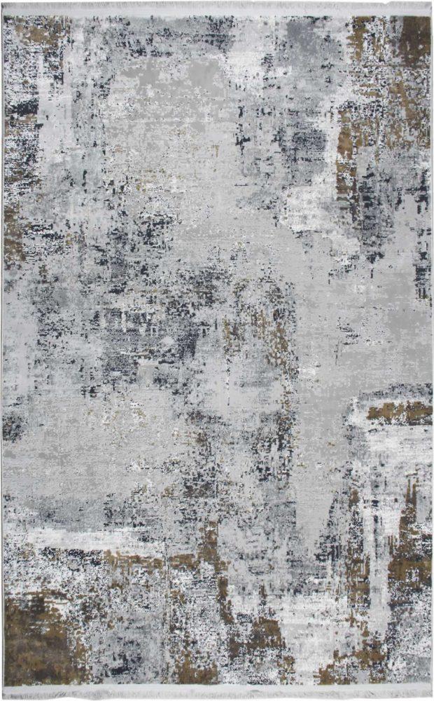 שטיח מודרני אבסטרקט זהוב אפור