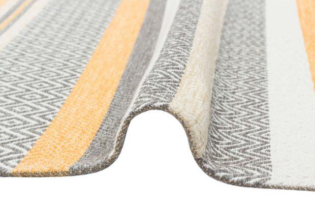 שטיח קילים פסים צהוב