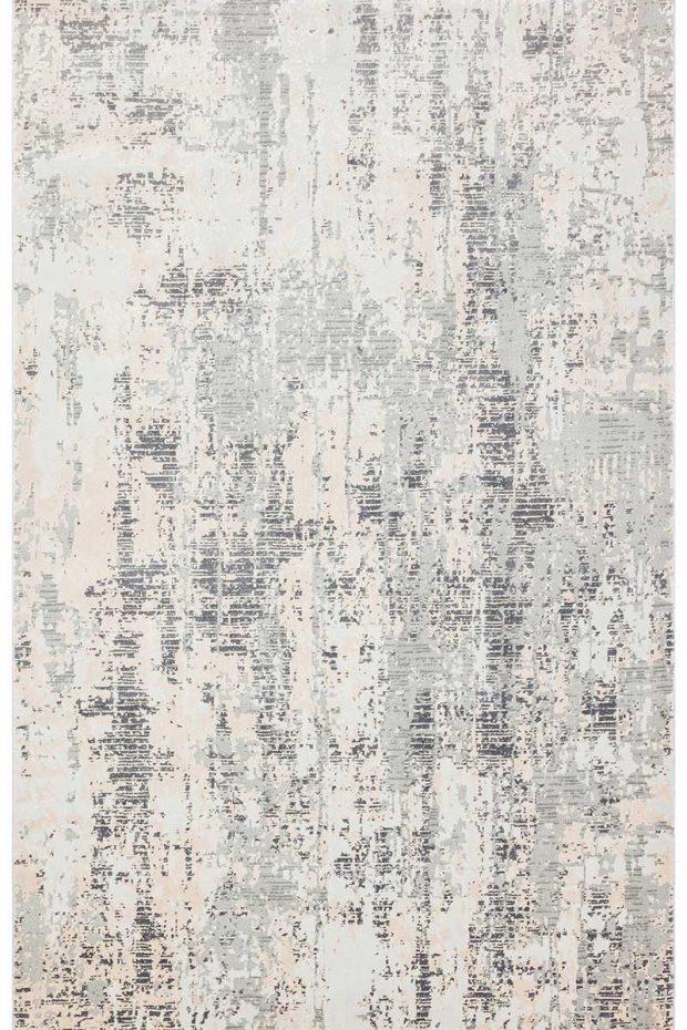 שטיח אבסטרקטי אפור קרם