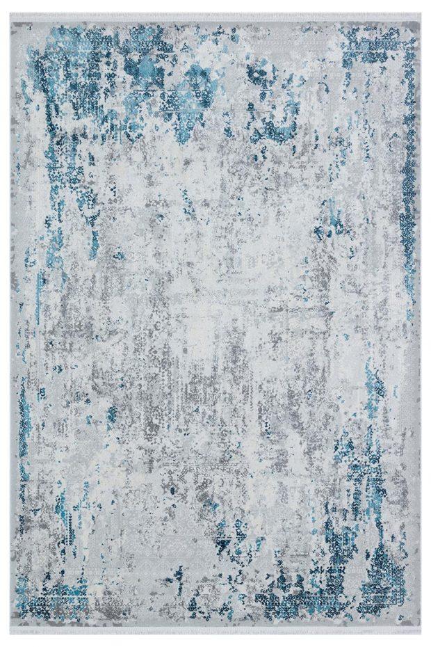 שטיח מודרני אבסטרקט אפור תכלת