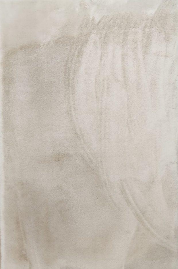 שטיח שאגי משי שיער קצר בז'