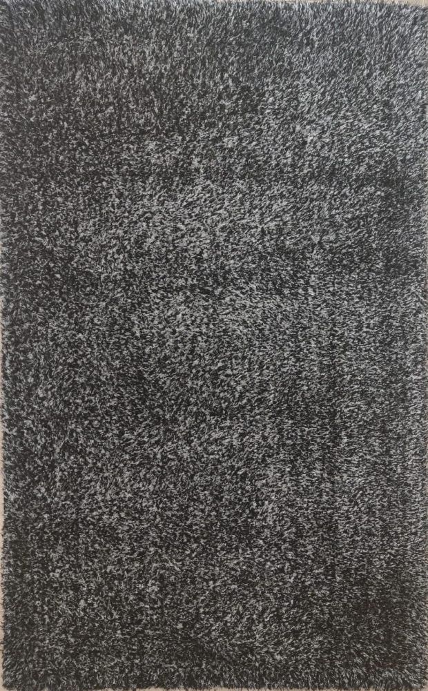 שטיח שאגי אפור שחור