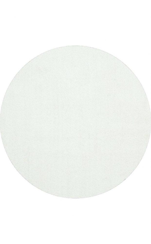 שטיח עגול לבן
