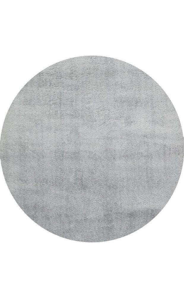 שטיח עגול אפור
