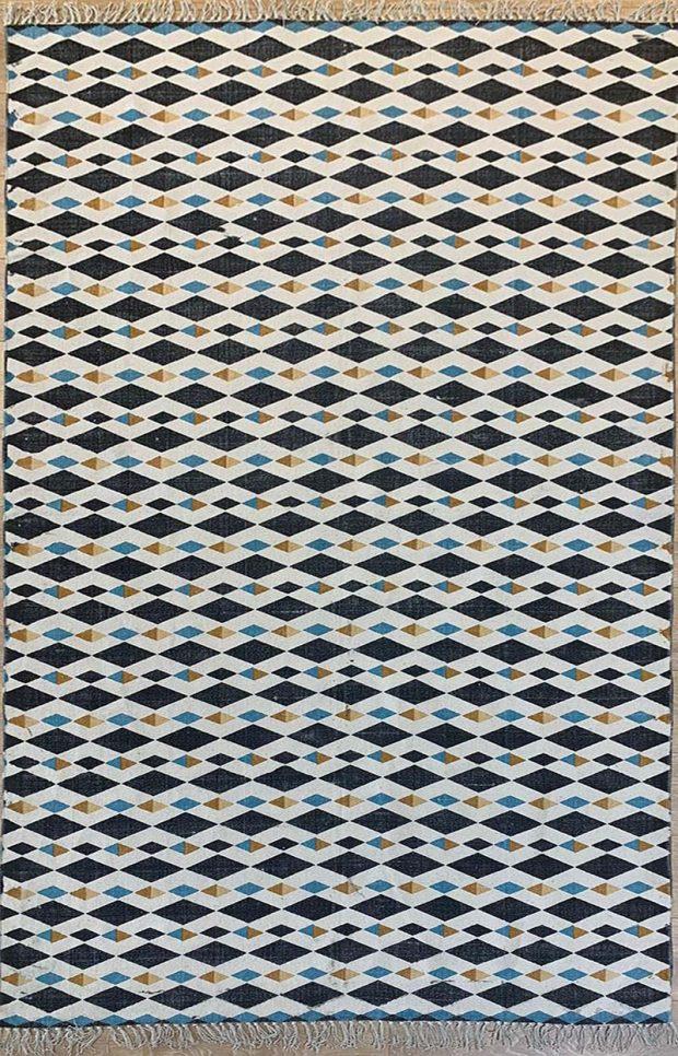שטיח קילים כותנה מעויינים קטנים
