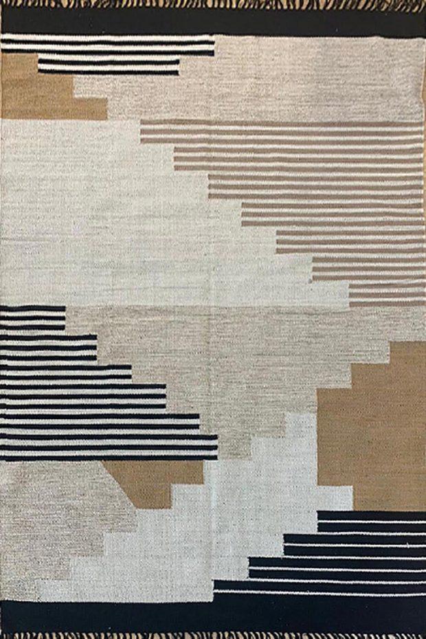 שטיח כותנה גווני פודרה