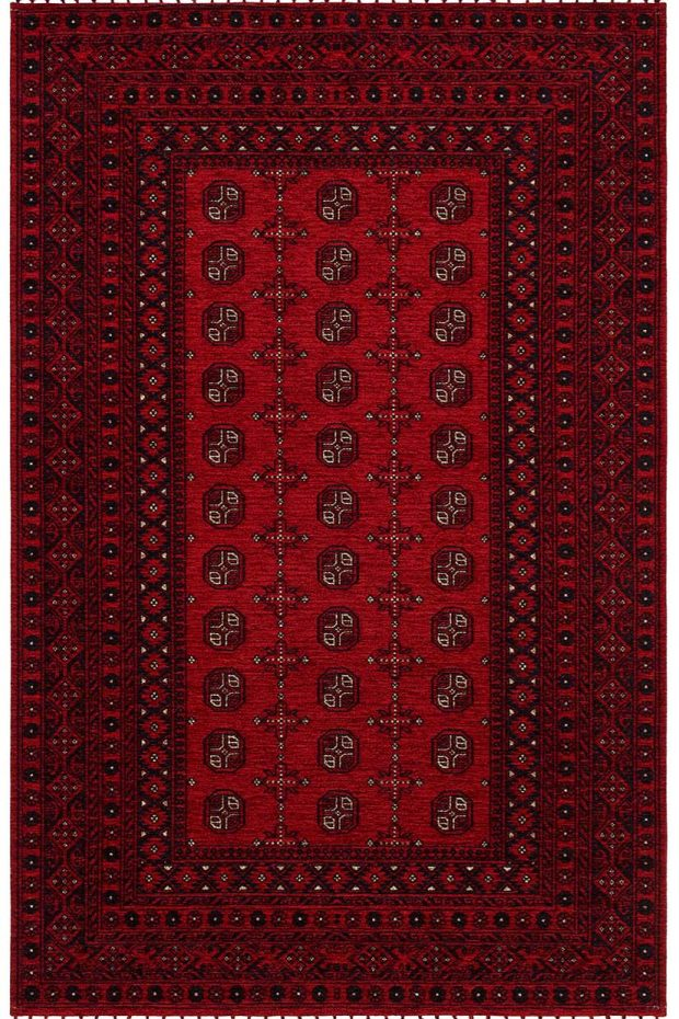 שטיח אפגני מכונה אדום