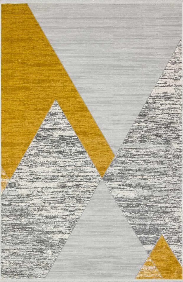שטיח מודרני צהוב