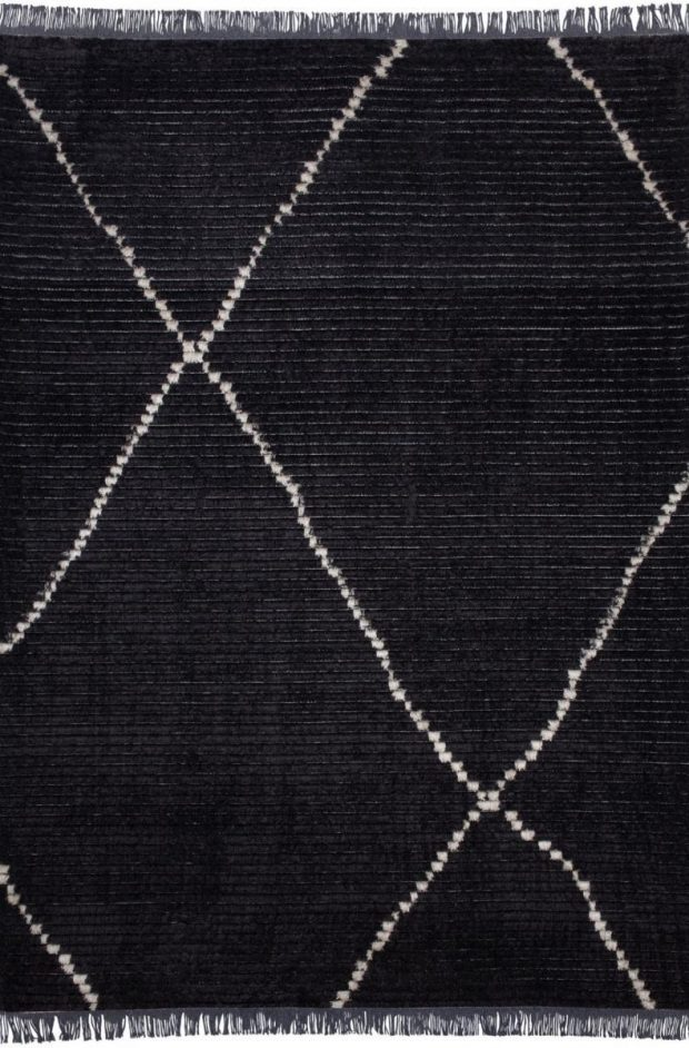שטיח ברבר שחור דוגמא בז'