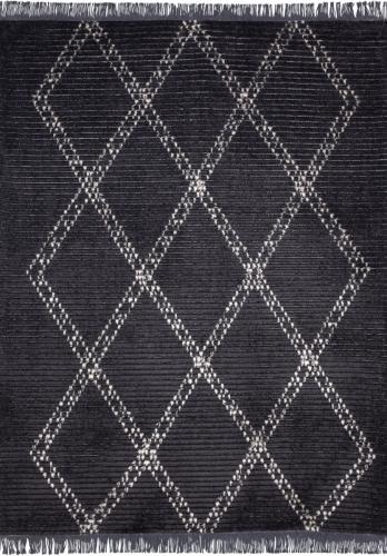 שטיח ברבר מעויינים שחור
