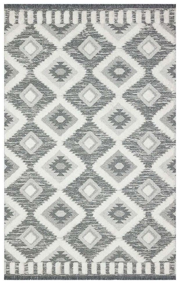 שטיח דגם ברבר מעויינים אפור