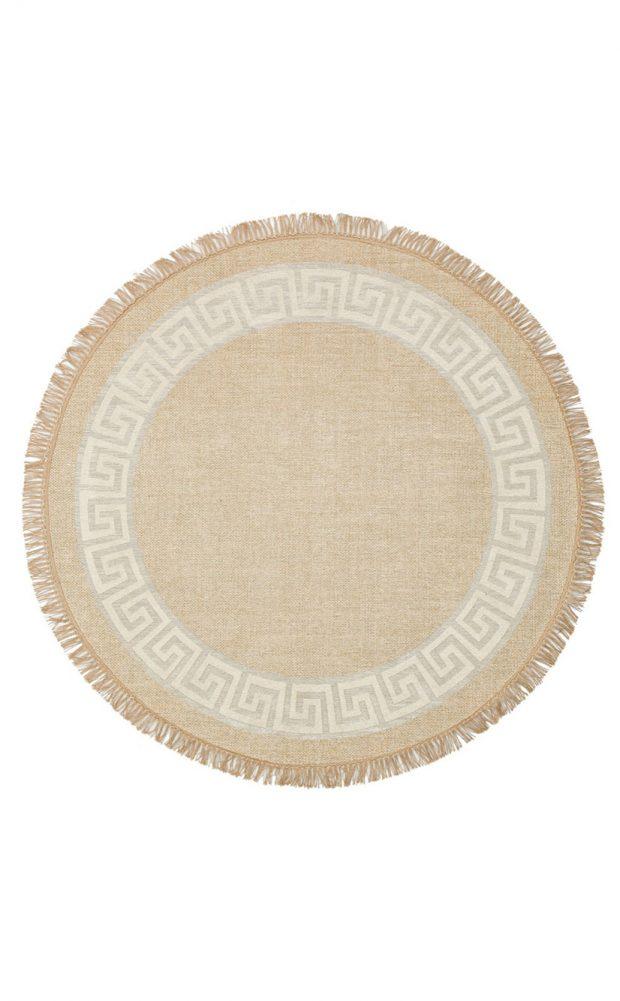 שטיח דמוי חבל עגול
