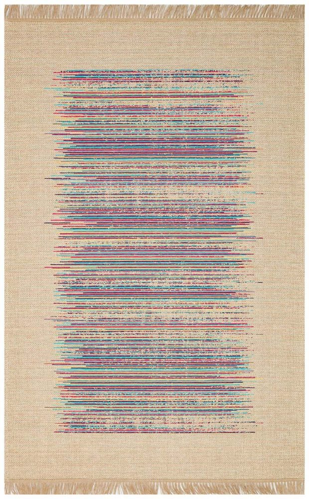 שטיח טבעי צבעוני