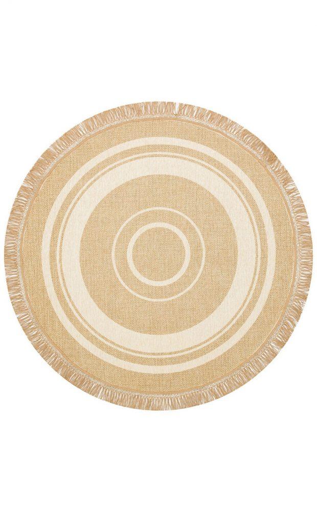 שטיח עגול דמוי חבל