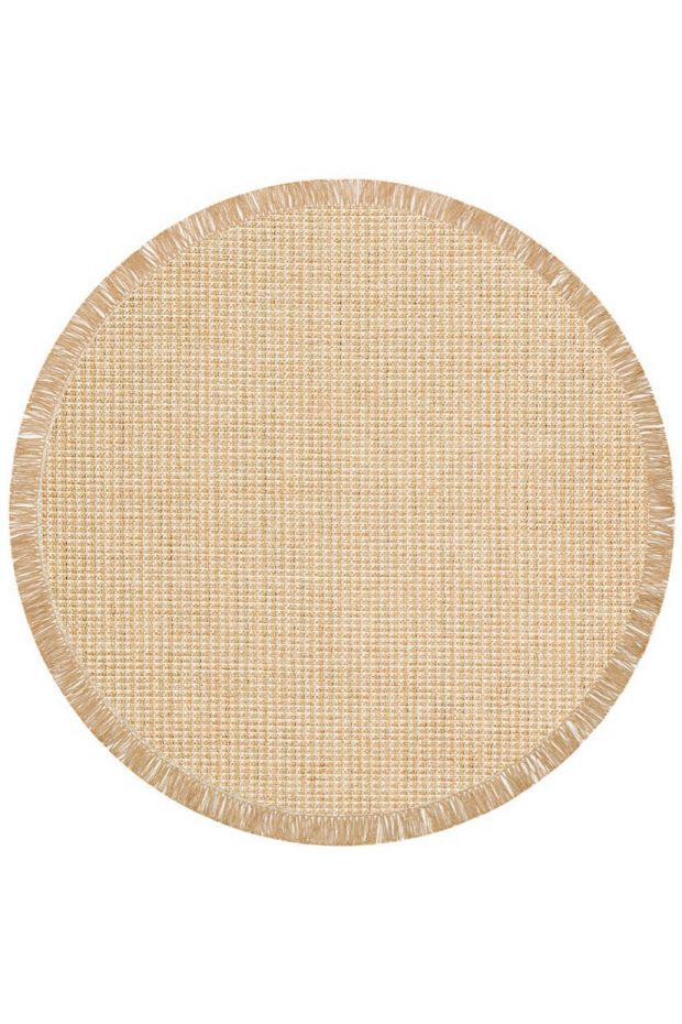 שטיח דמוי חבל קרם