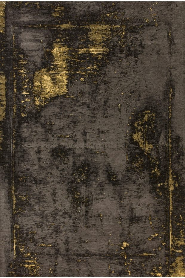 שטיח מודרני צהוב שחור