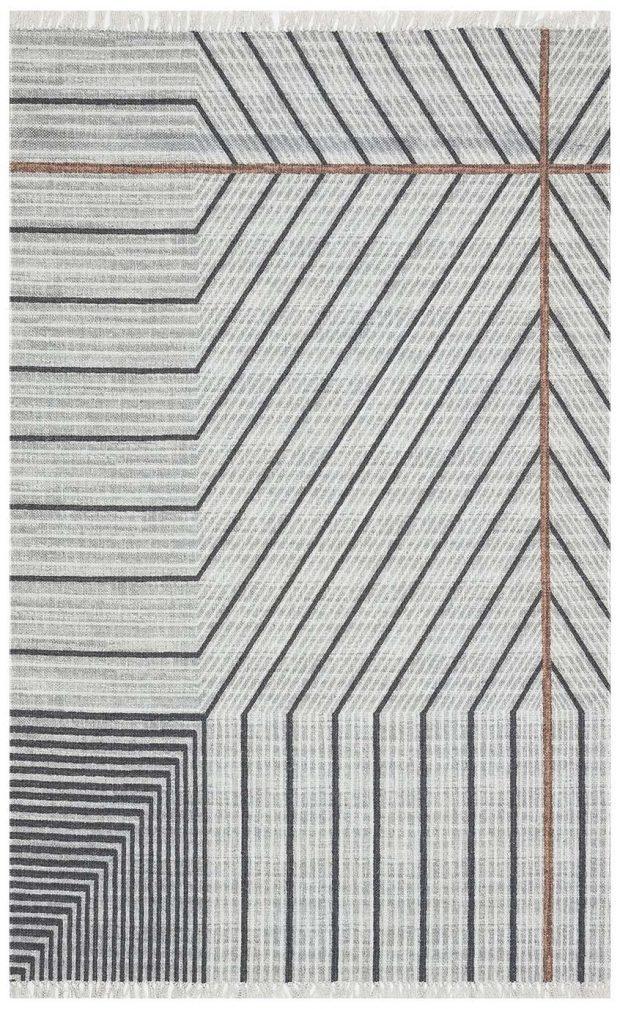 שטיח גיאומטרי אפור