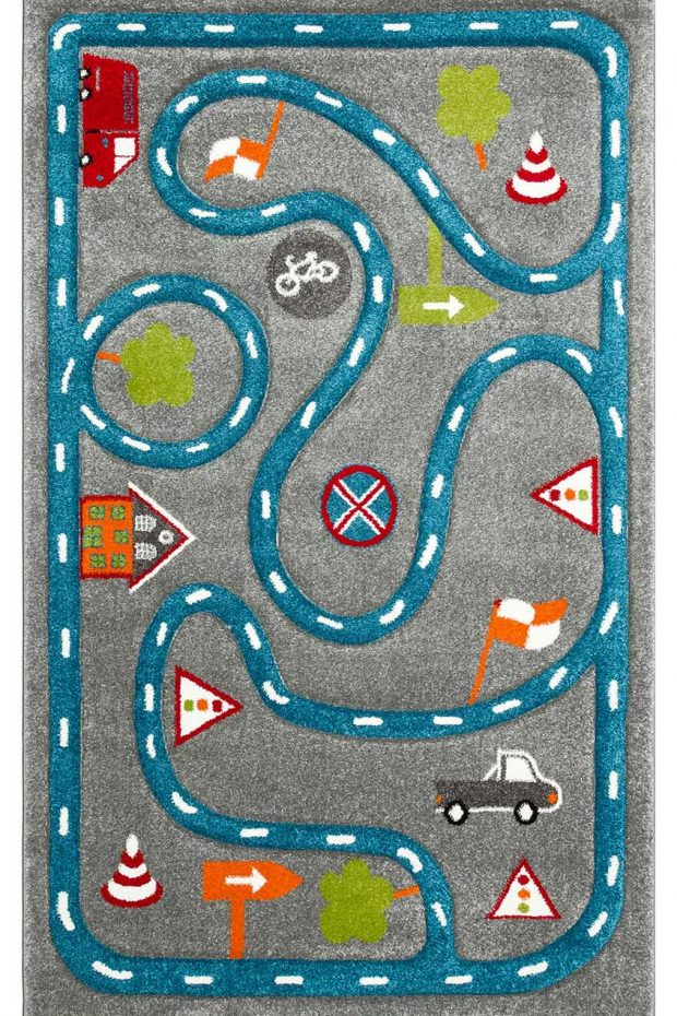 שטיח כבישים אפור