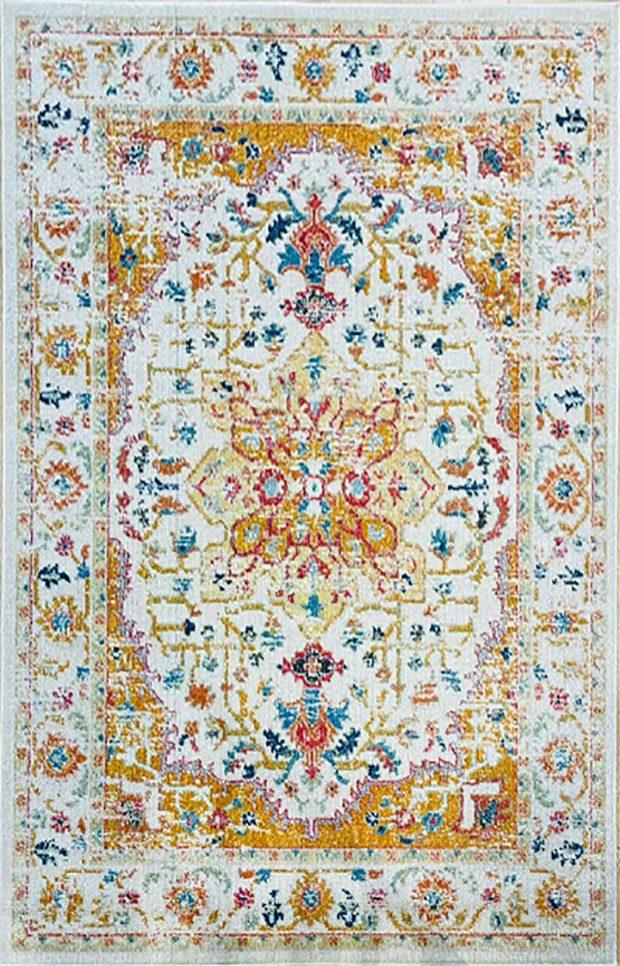 שטיח קלאסי צהוב
