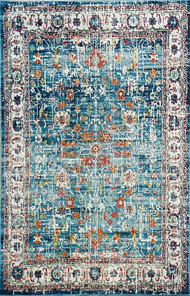שטיח קלאסי וינטג' כחול