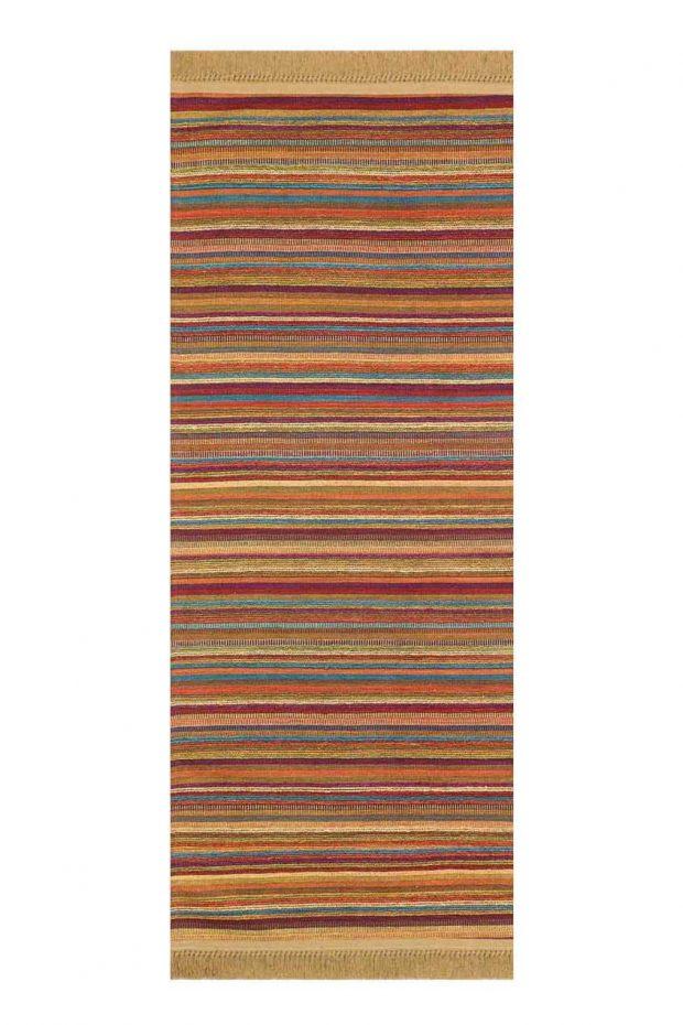 שטיח מסדרון צבעוני פסים