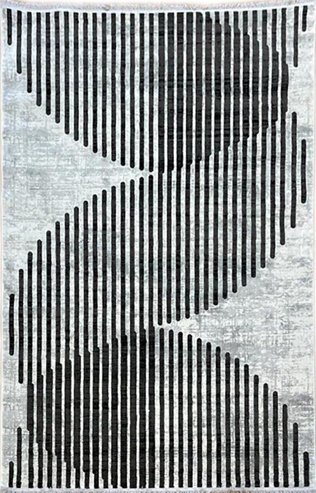 שטיח אפור שחור