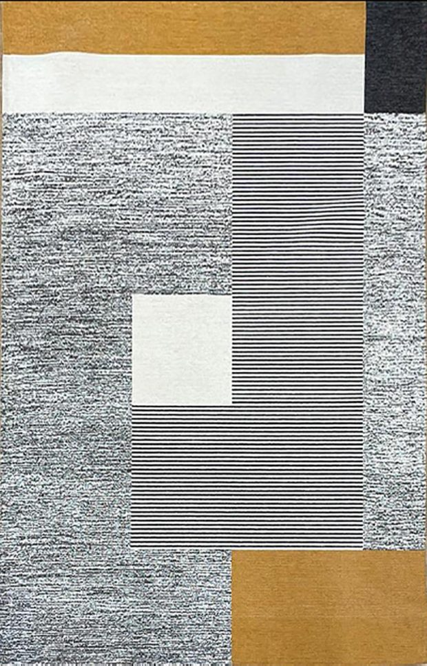 שטיח קוביות חרדל
