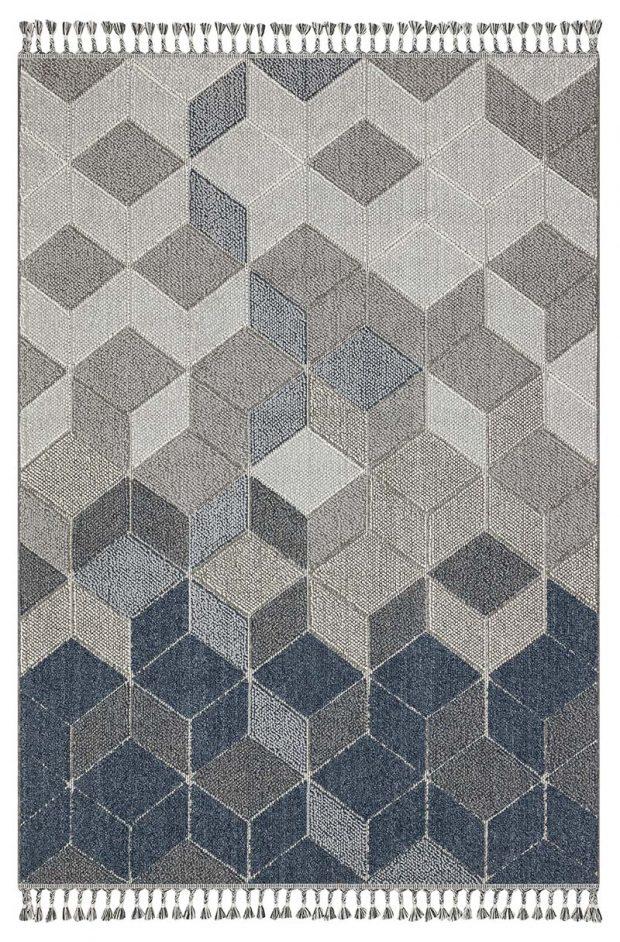 שטיח דמוי חבל קוביות