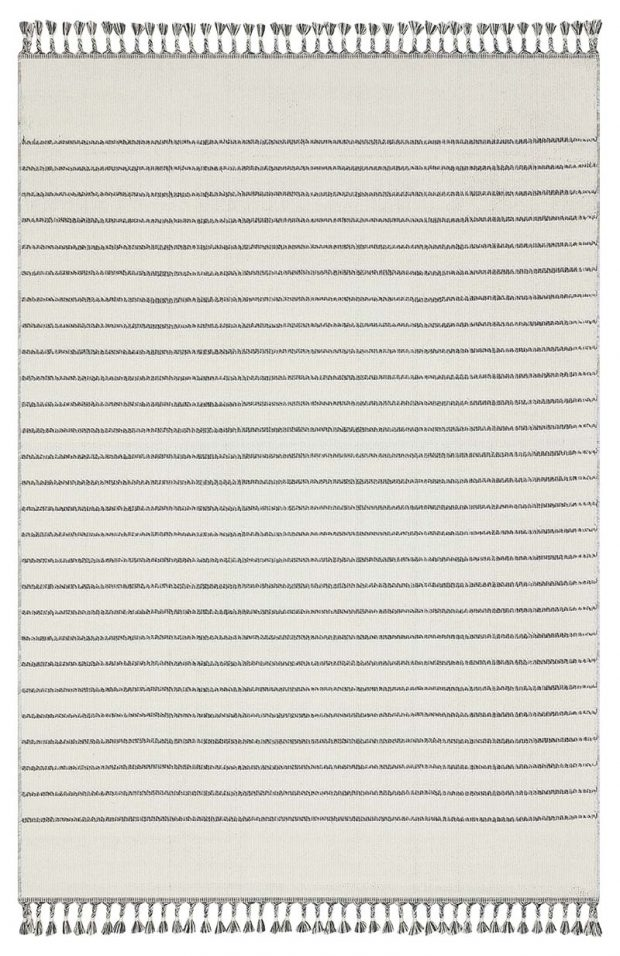 שטיח דמוי חבל לבן פסים