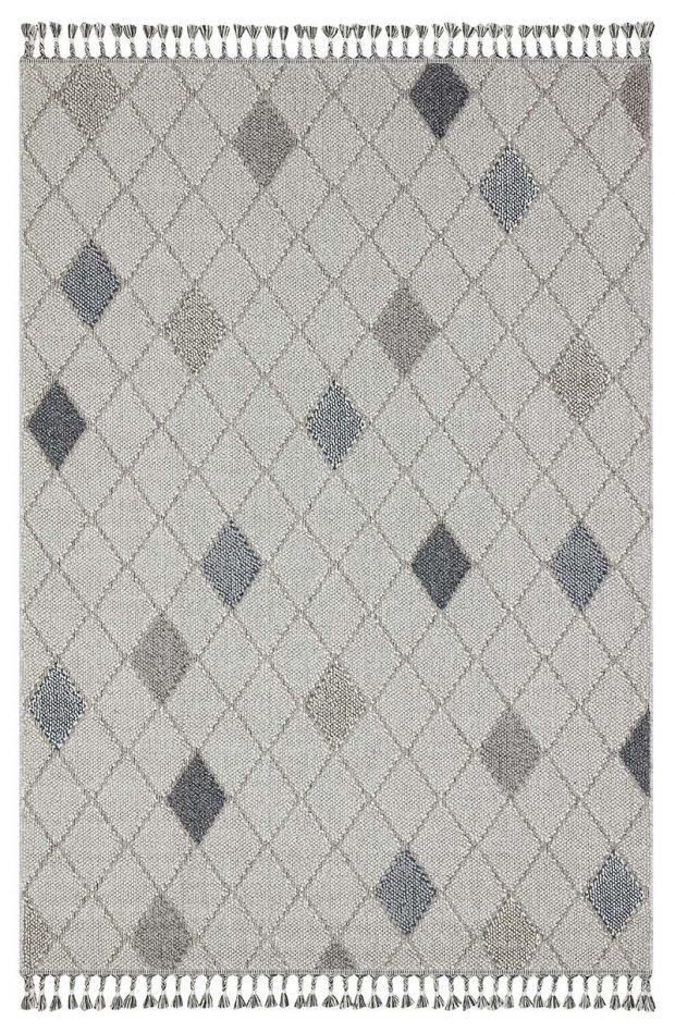שטיח דמוי חבל מעויינים