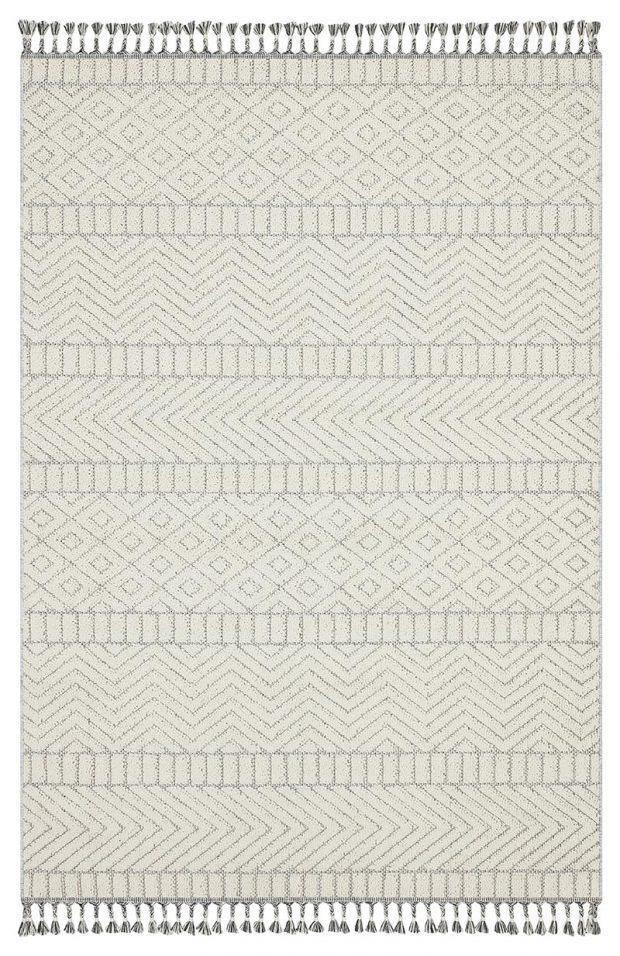שטיח דמוי חבל לבן