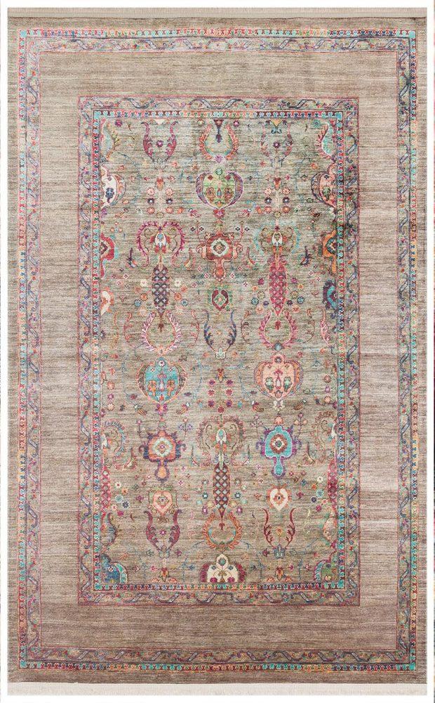 שטיח אנטיק גוון ירוק זית